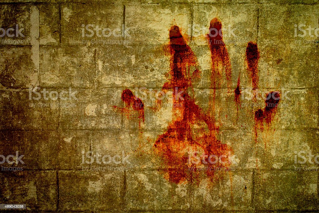 hand bloodstains stock photo
