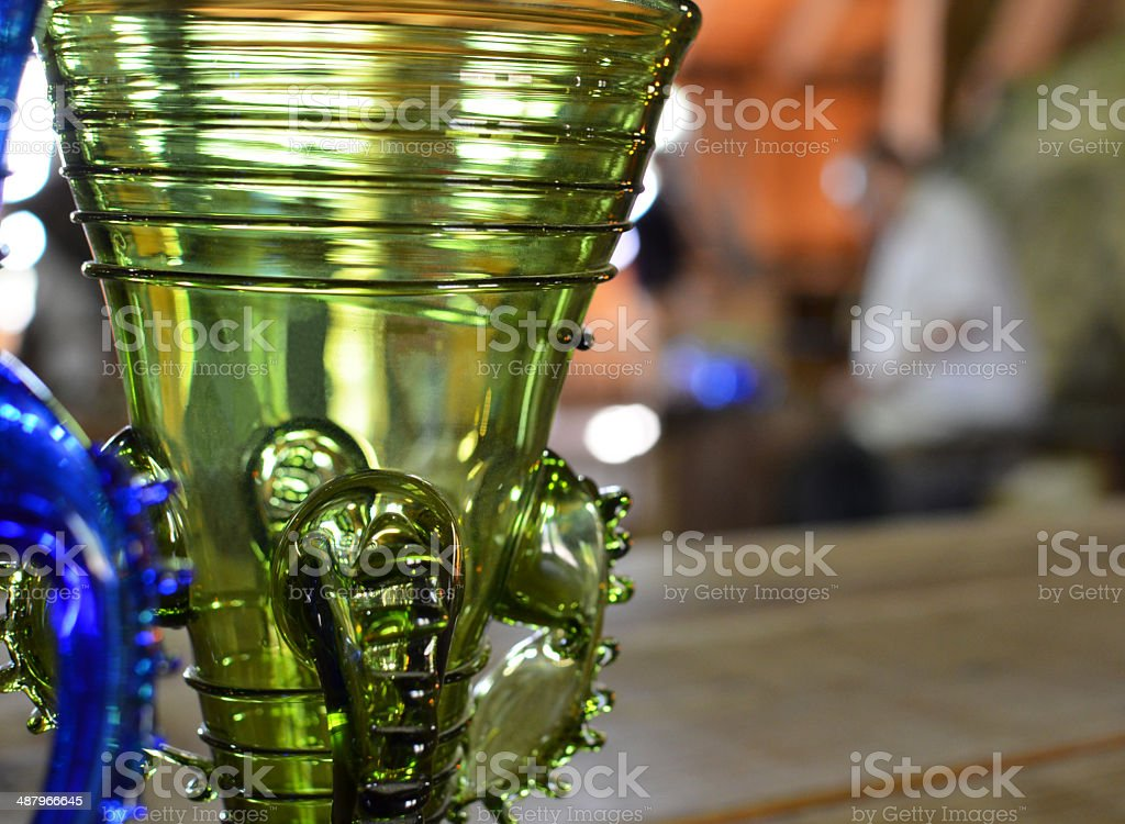hand blown glass royalty-free stock photo