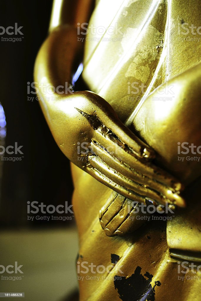 Hand  Buddha statue royalty-free stock photo