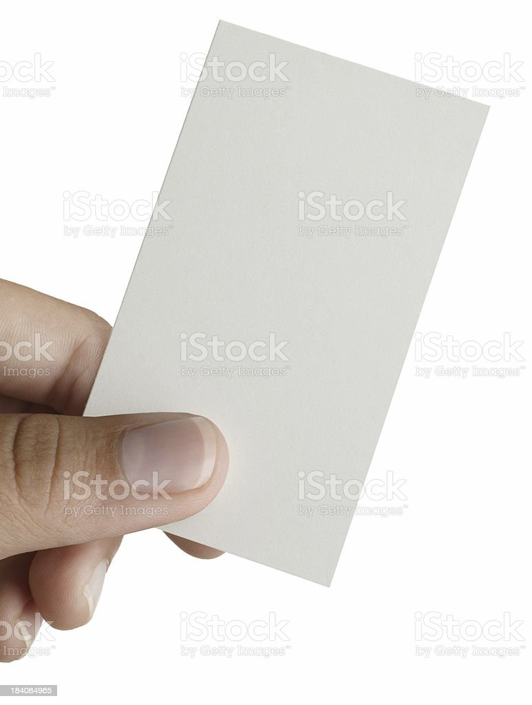 Hand & Business Card royalty-free stock photo
