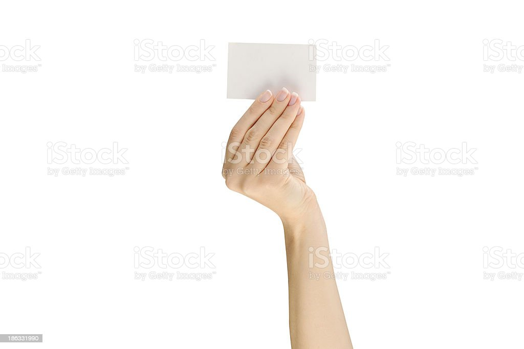 hand business card royalty-free stock photo