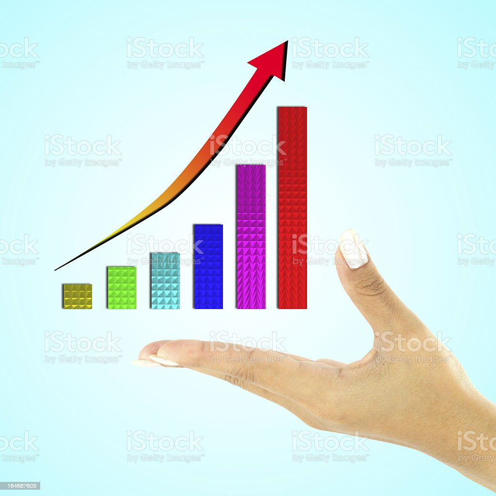 hand business graph royalty-free stock photo