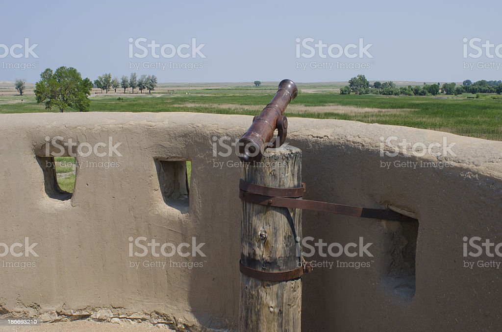 Hand Cannon at Bent's Old Fort National Historic Site stock photo
