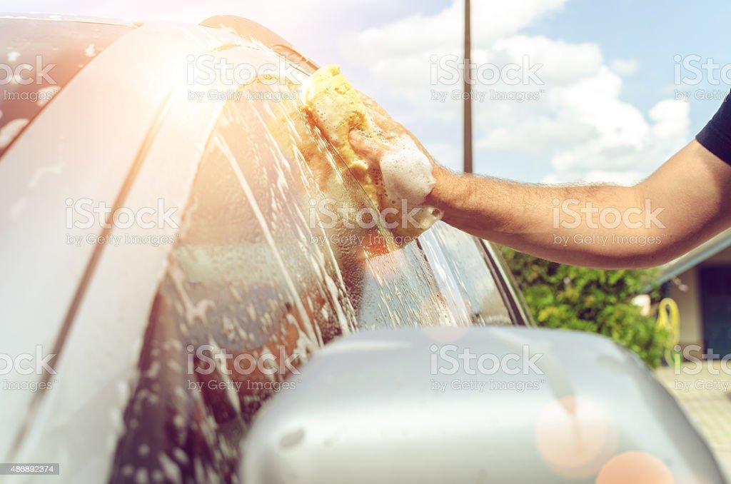Hand Car Wash stock photo