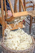 hand carder wood carding cotton