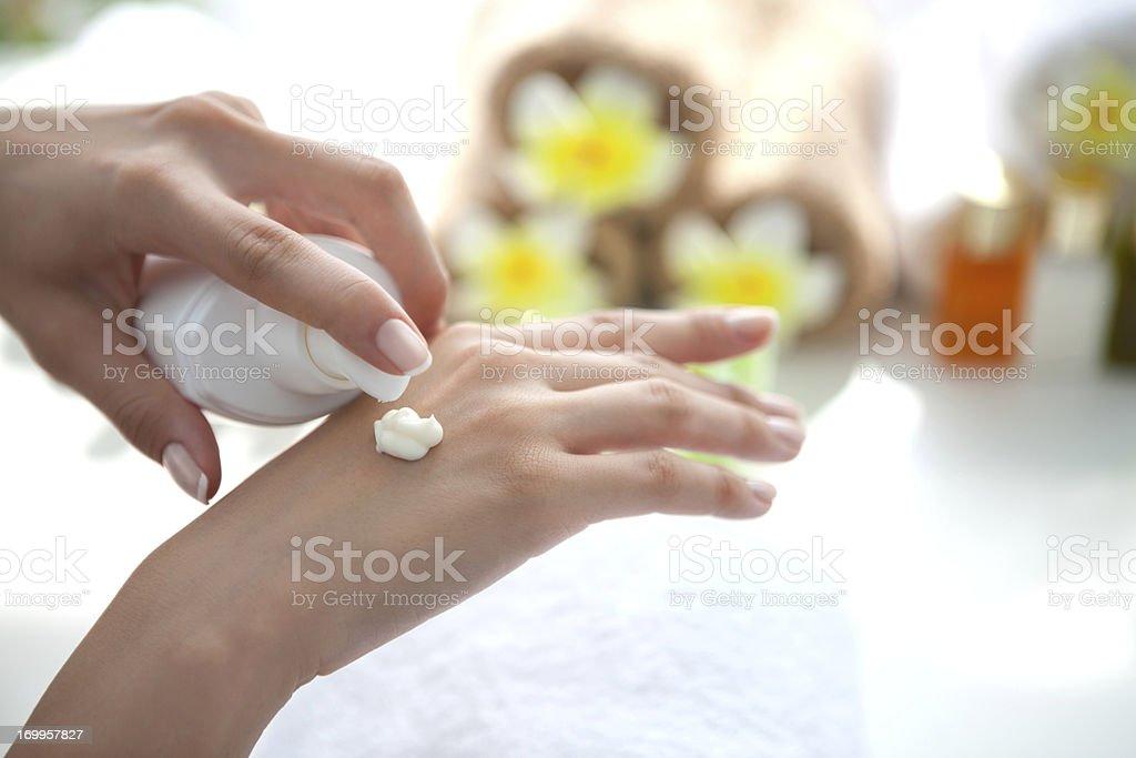 Hand care. stock photo