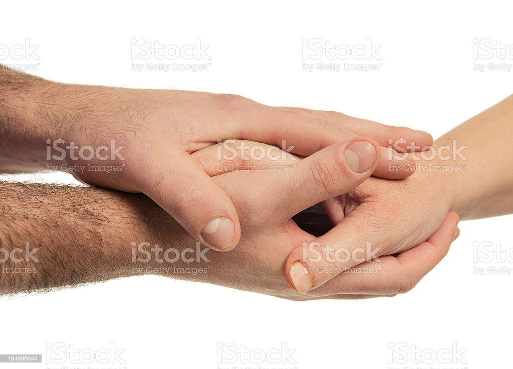 Hand care teamwork on stack royalty-free stock photo