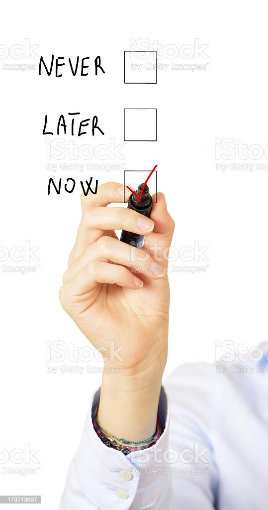 Hand Checking Box royalty-free stock photo