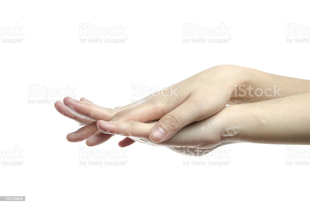 hand cleaning royalty-free stock photo