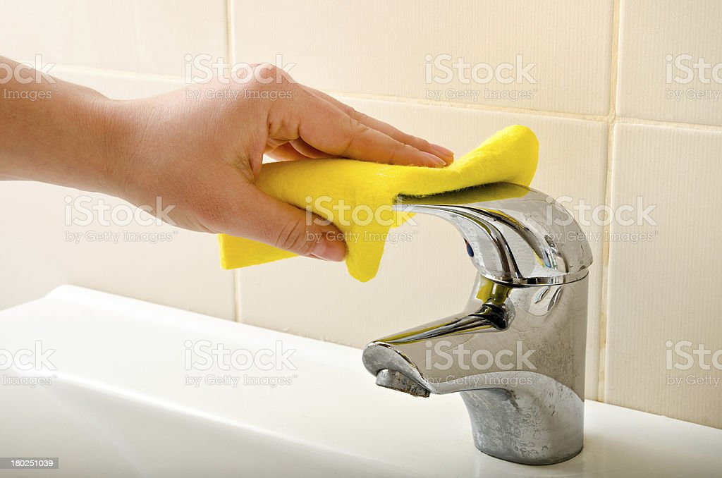 hand cleans tap royalty-free stock photo