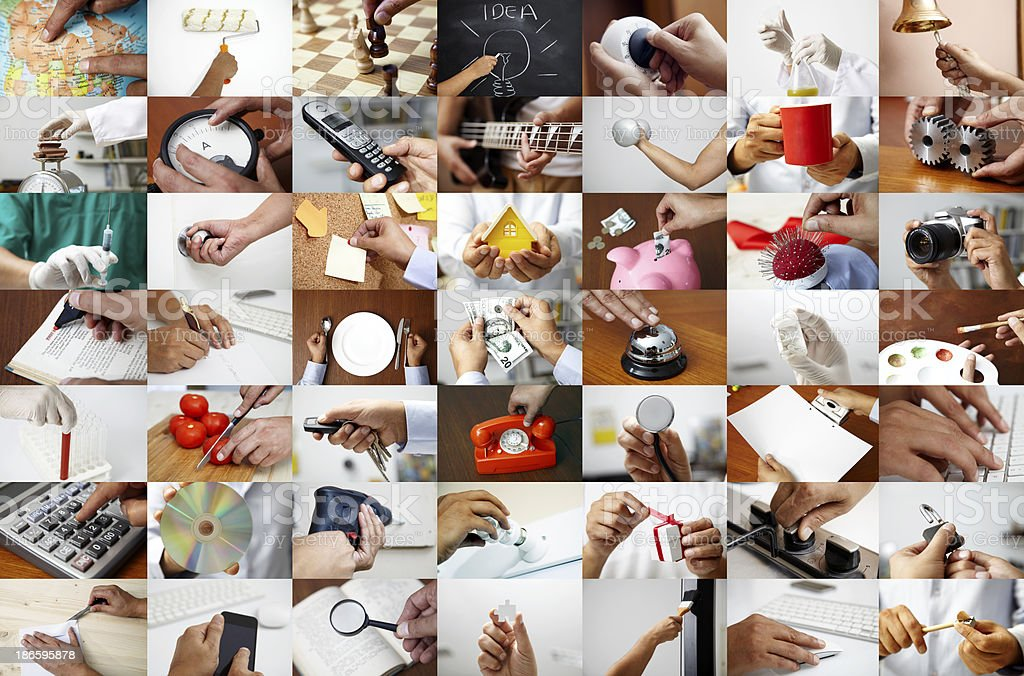 Hand Collage stock photo