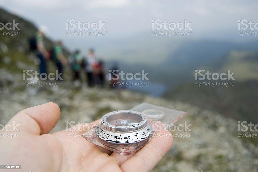 Hand compass stock photo