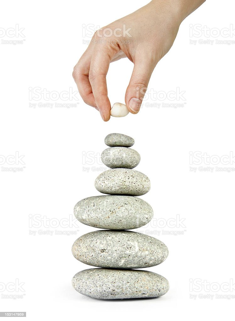 hand constructs equilibrium royalty-free stock photo