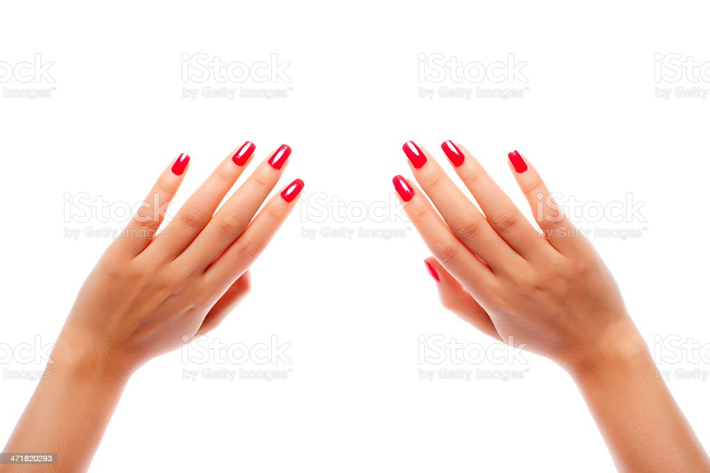 Hand counting - ten fingers royalty-free stock photo