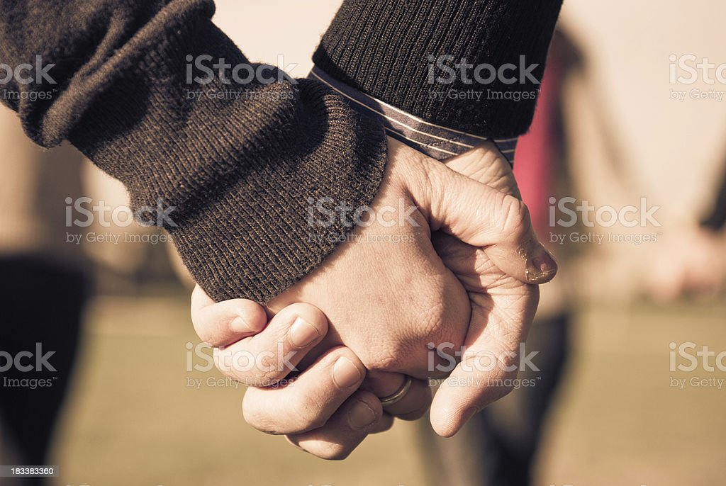 hand, couple in love royalty-free stock photo