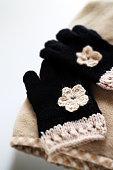 hand craft, orginal design and knit gloves