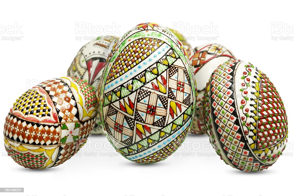 hand crafted easter eggs royalty-free stock photo