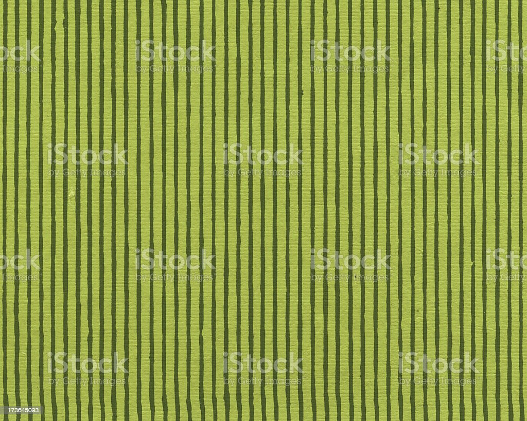 hand crafted green stripe art paper royalty-free stock photo