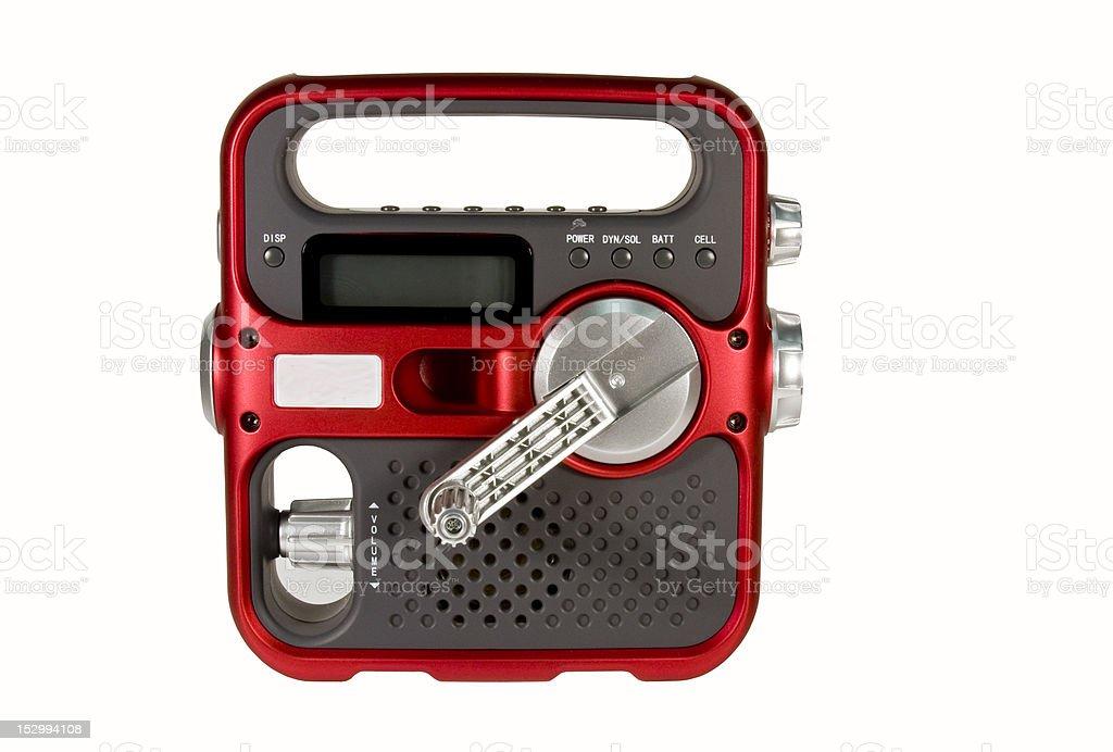 hand crank emergency radio stock photo