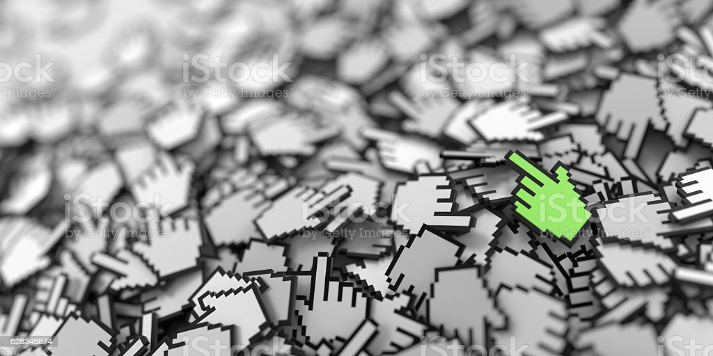Hand cursor icon background stock photo