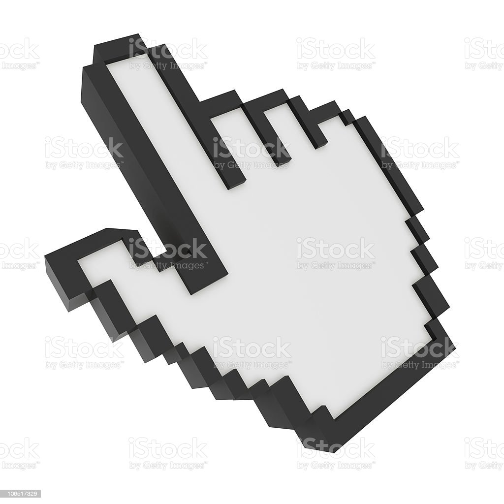 3D Hand Cursor royalty-free stock photo