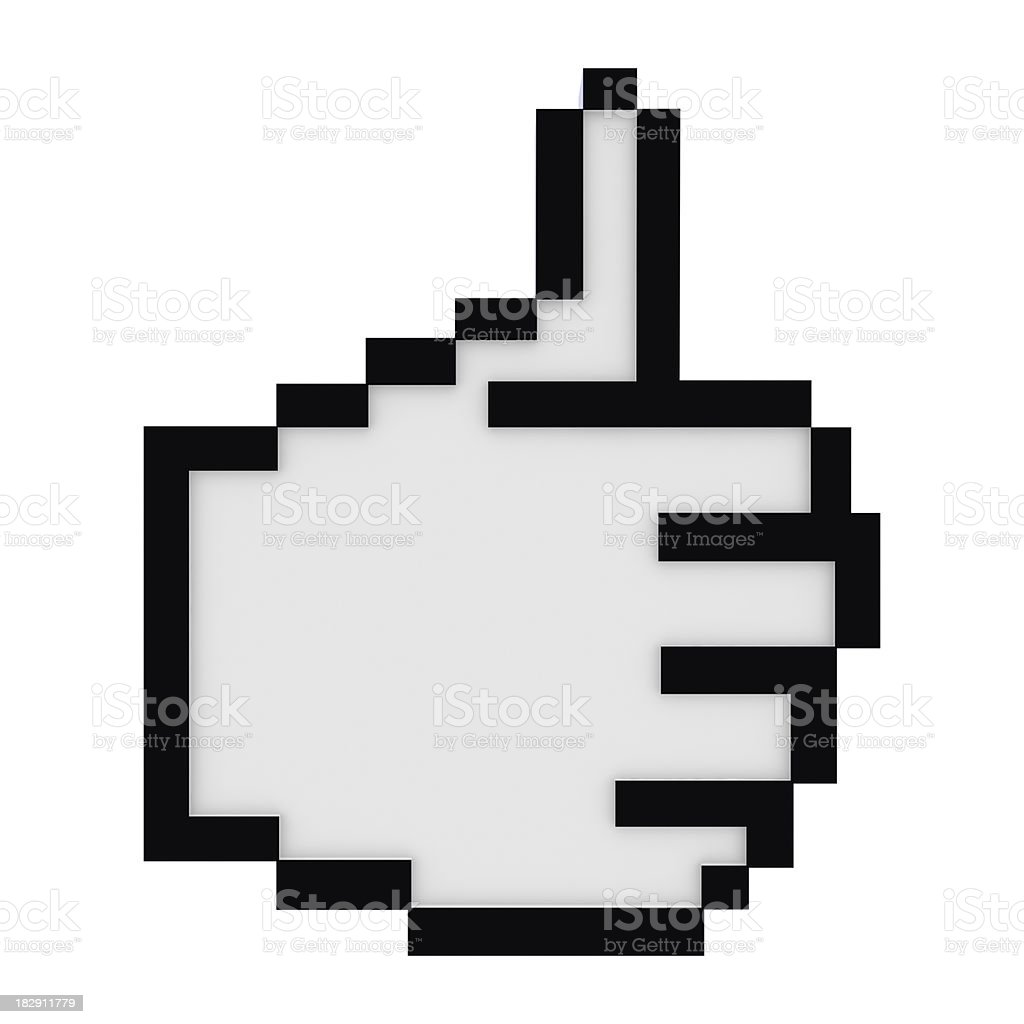 Hand Cursor - Thumb Up royalty-free stock photo