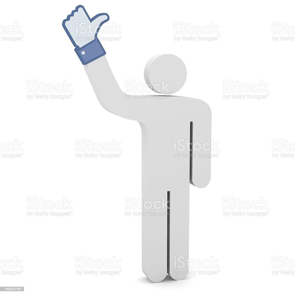 Hand Cursor - Thumb Up royalty-free stock photo