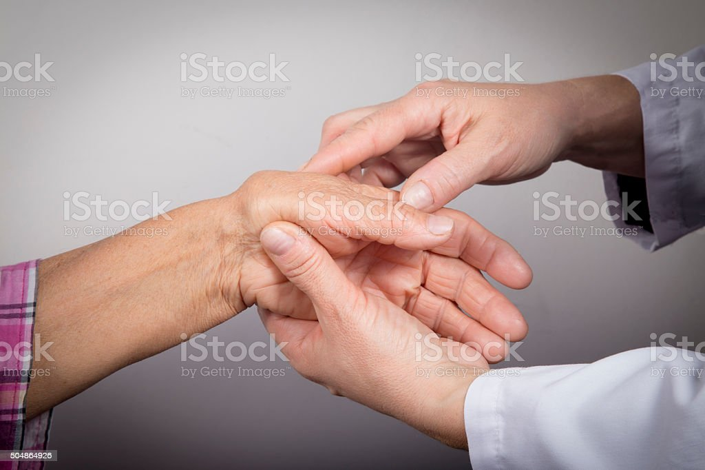 Hand Deformed From Rheumatoid Arthritis royalty-free stock photo