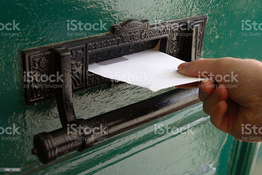 Hand Delivery stock photo