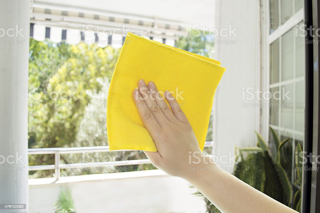 hand dirty glasses royalty-free stock photo