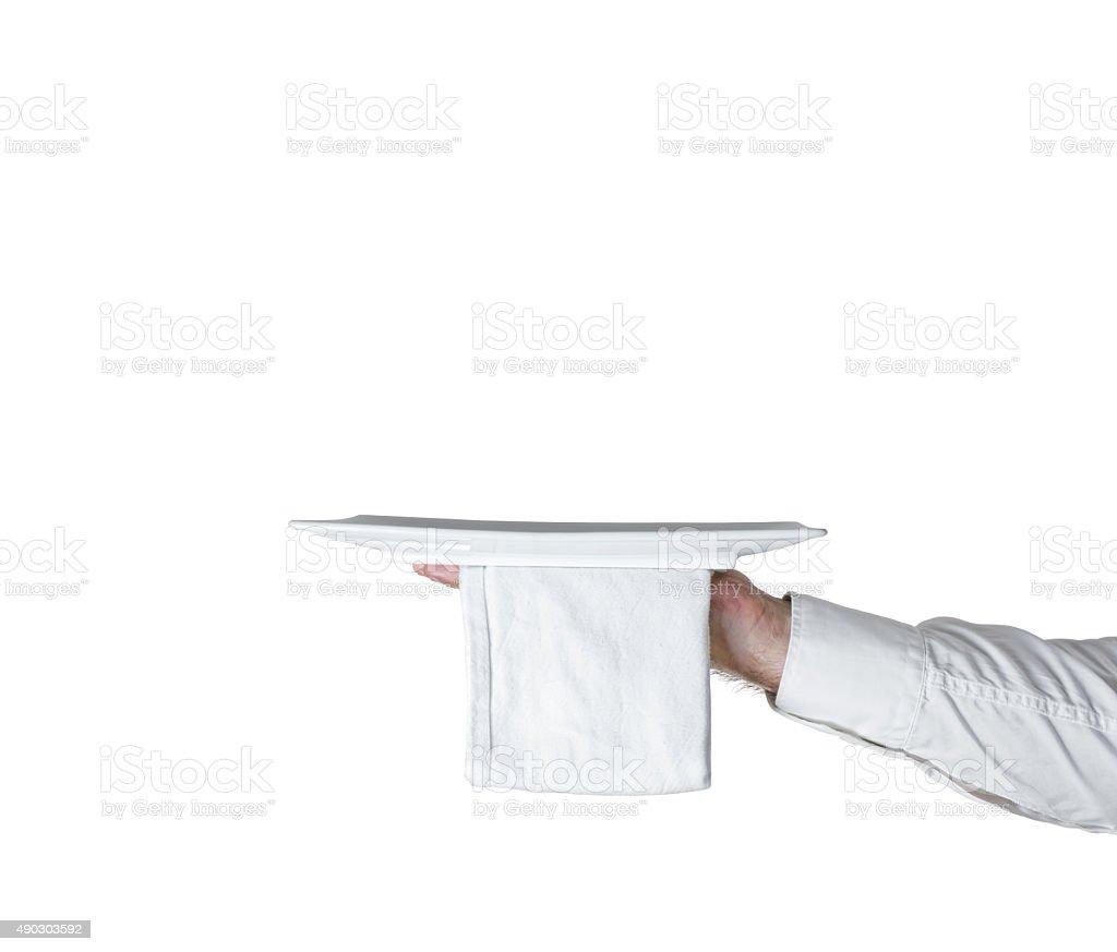 hand dish isolated stock photo