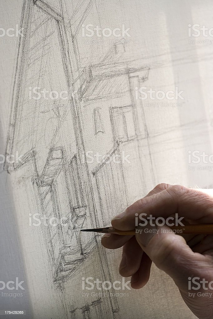 Hand draw graphics royalty-free stock photo