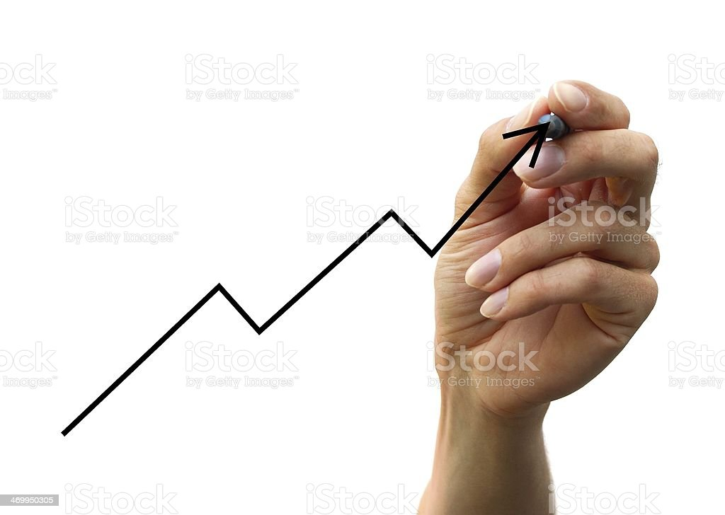 hand drawing a chart stock photo