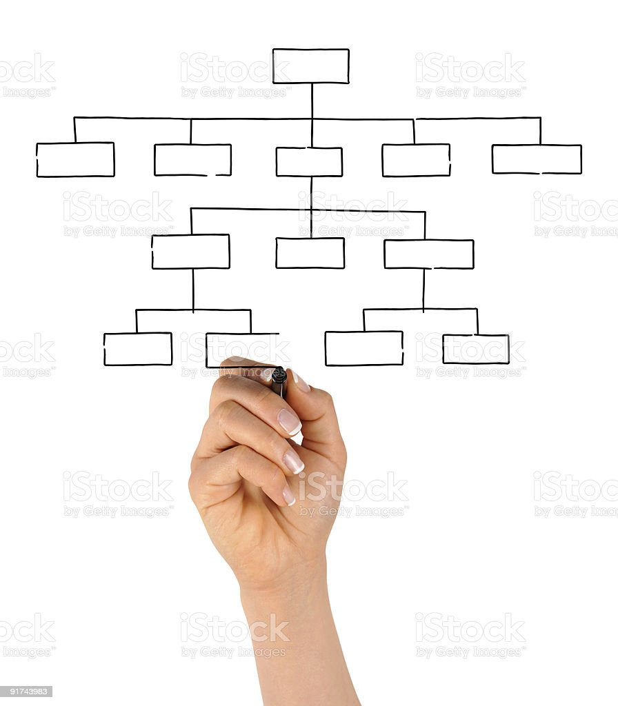 Hand Drawing Blank Organization Chart stock photo 91743983 – Blank Organizational Chart