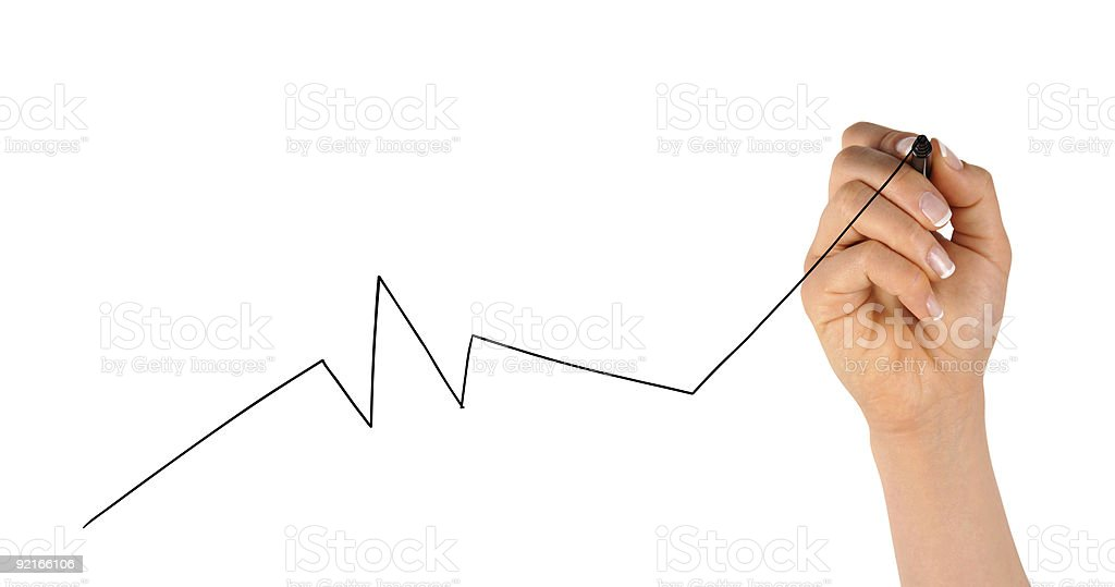 Hand Drawing Chart royalty-free stock photo