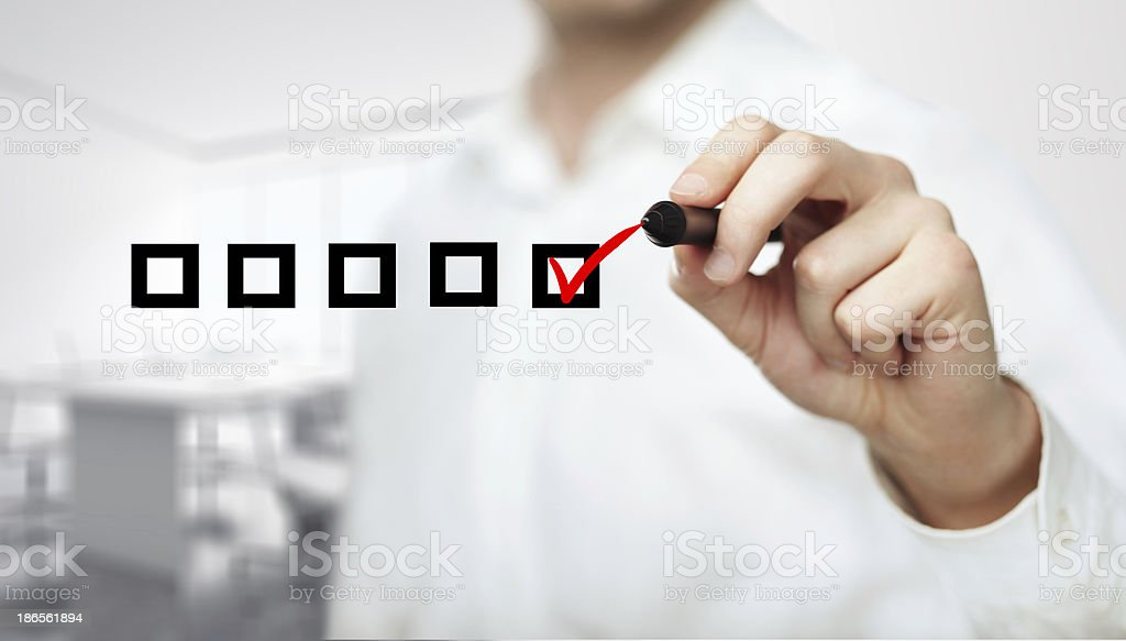 hand drawing check box stock photo