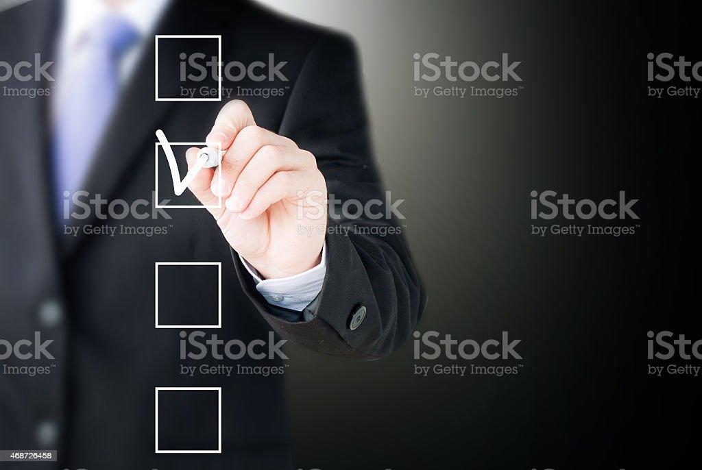 hand drawing check box stock photo