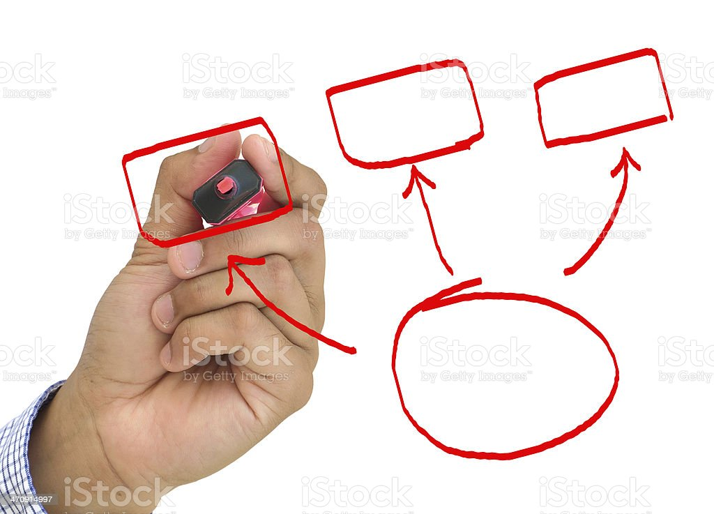 hand drawing empty diagram stock photo 470914997 istock rh istockphoto com