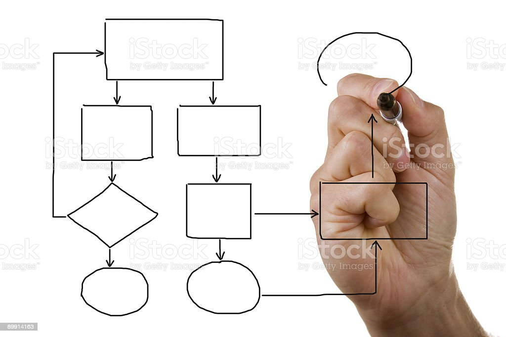 Hand drawing empty diagram stock photo