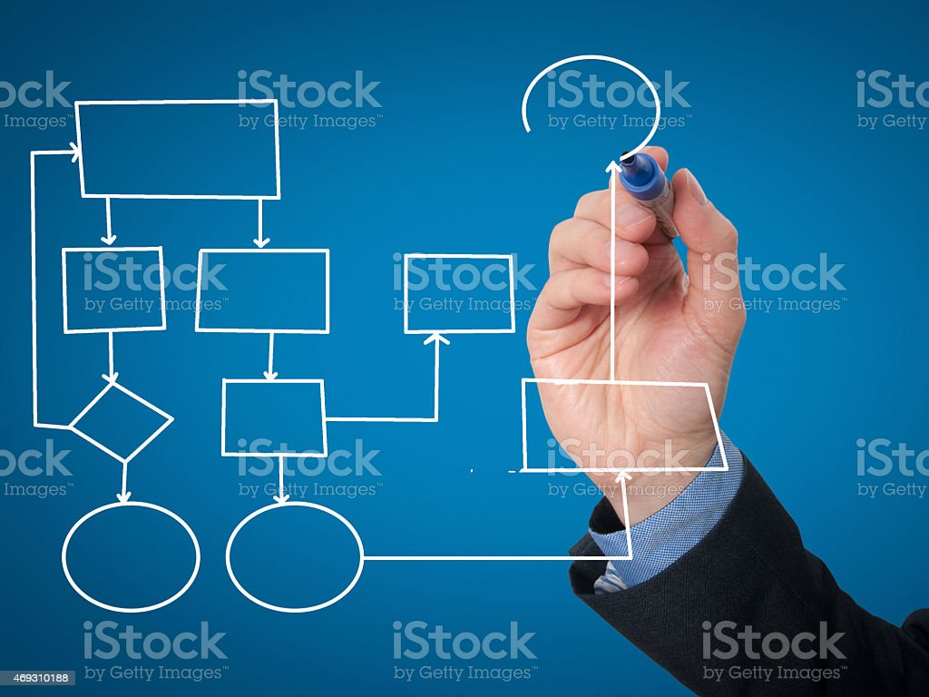 Hand drawing empty diagram - Stock Image stock photo