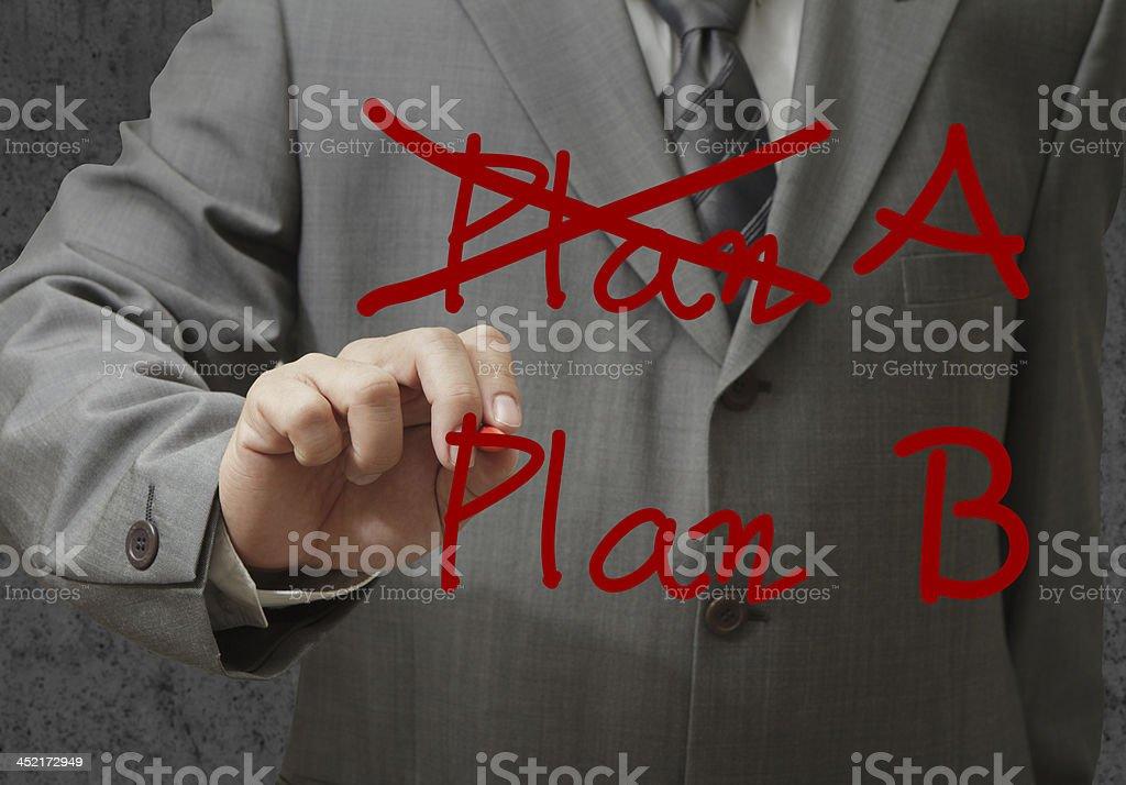 hand drawing plan royalty-free stock photo