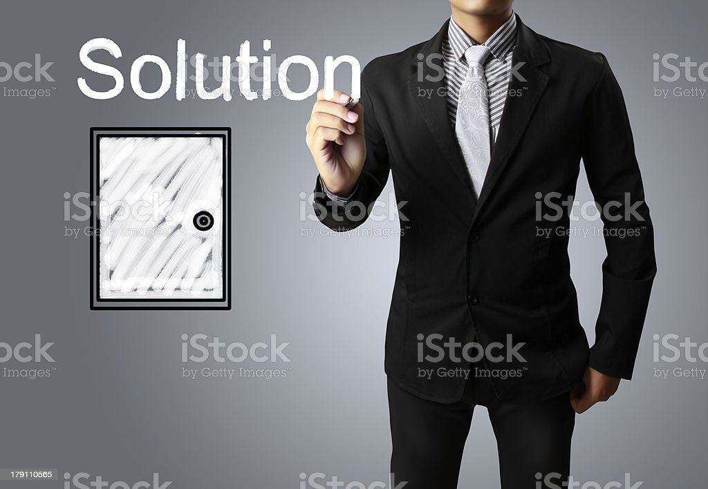 Hand drawing 'Solution' stock photo