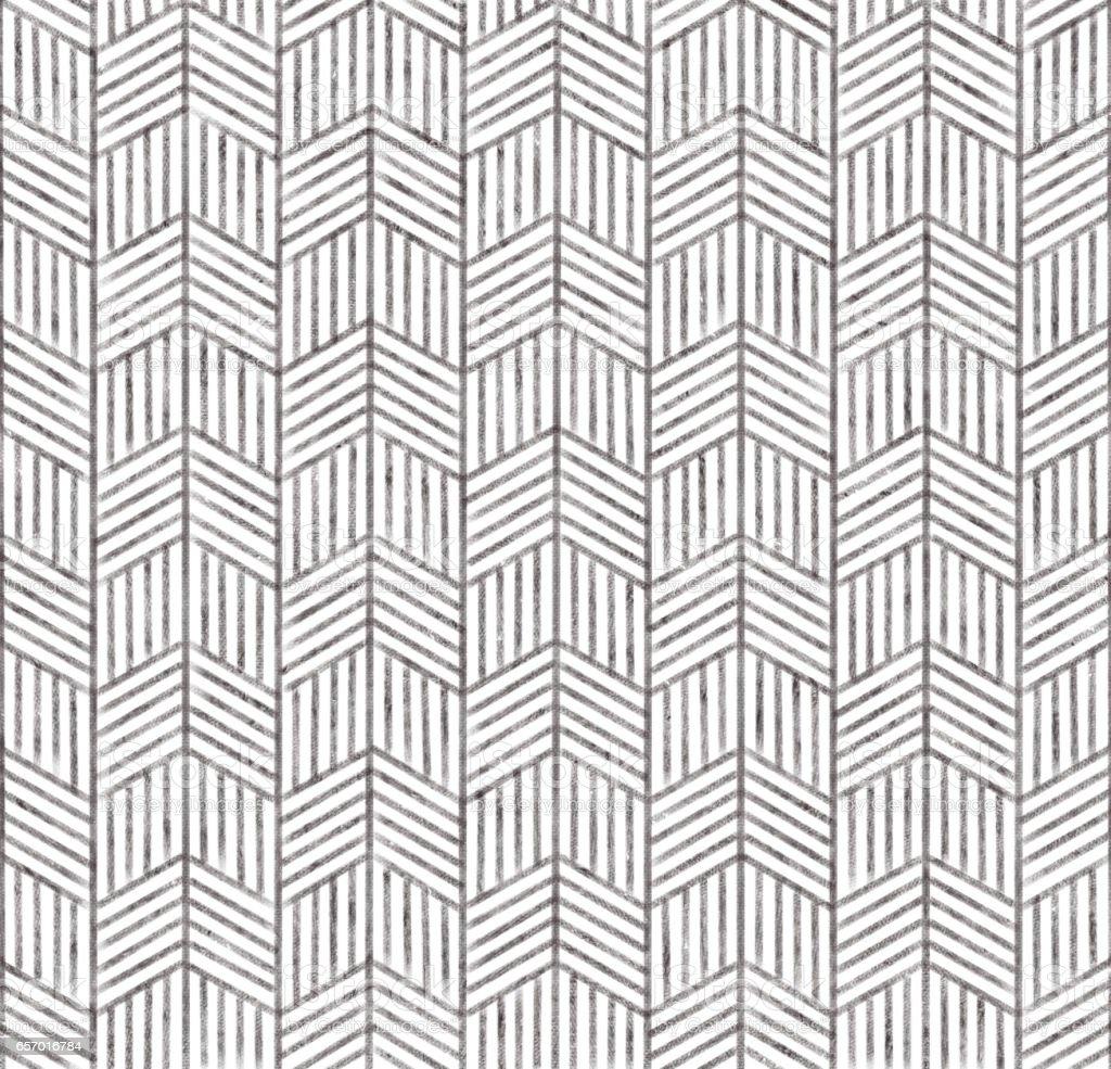 hand drawn herring bone pattern. stock photo