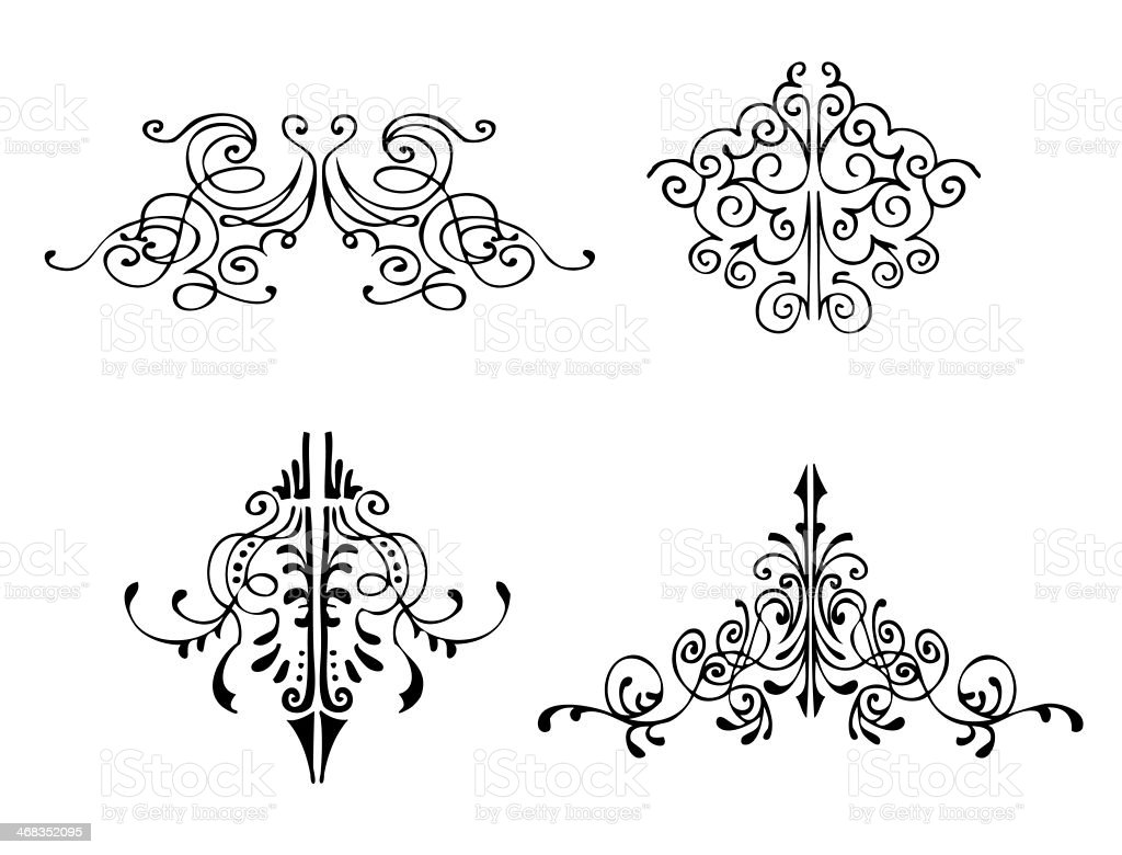 Hand Drawn Ornamental Flourishes stock photo