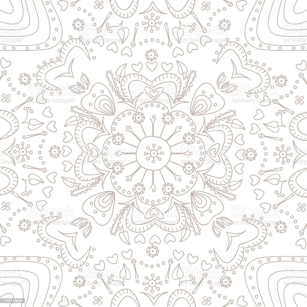 Hand drawn ornamental lace pattern stock photo