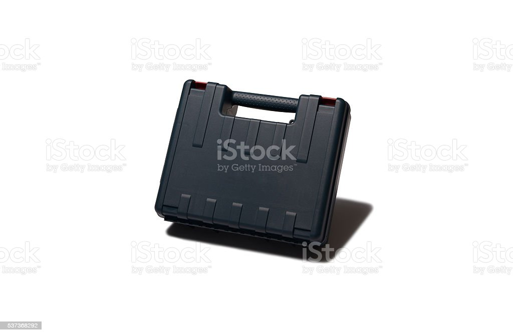 Hand drill box stock photo