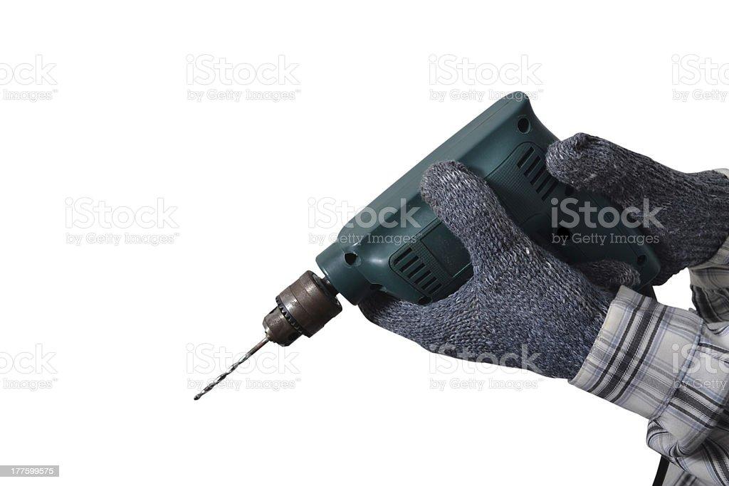 Hand drill. stock photo