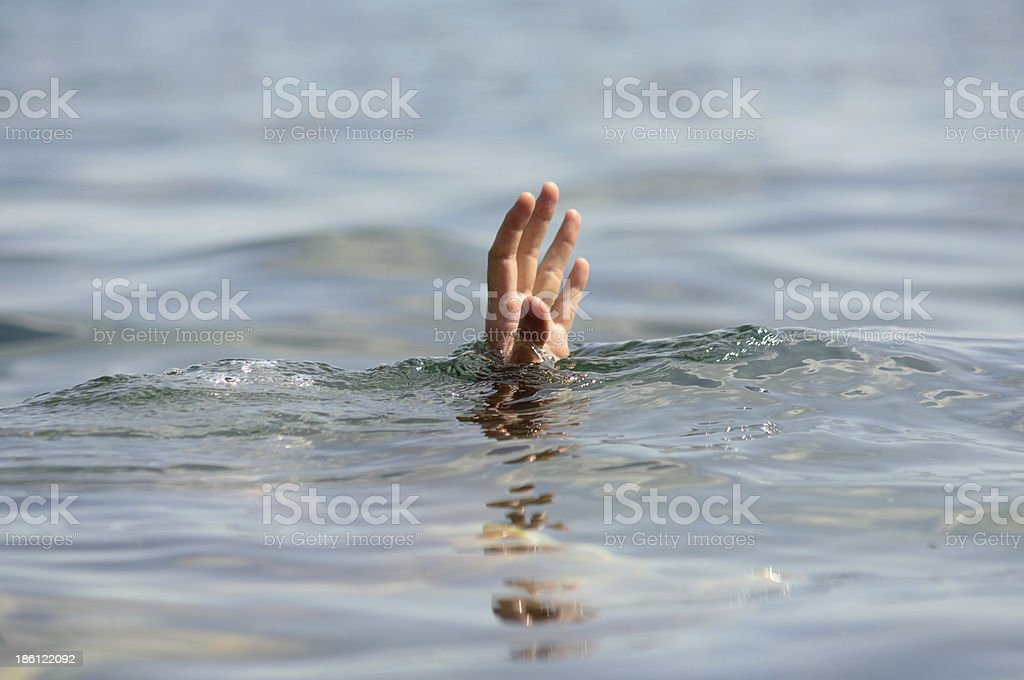 hand drowning stock photo