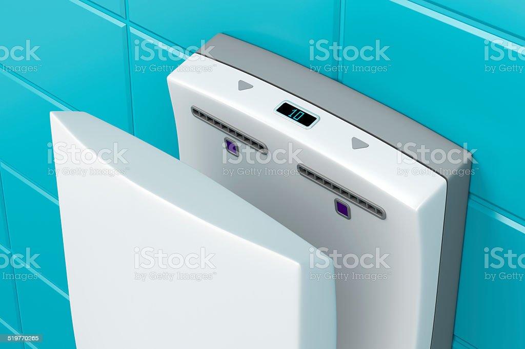 Hand dryer stock photo