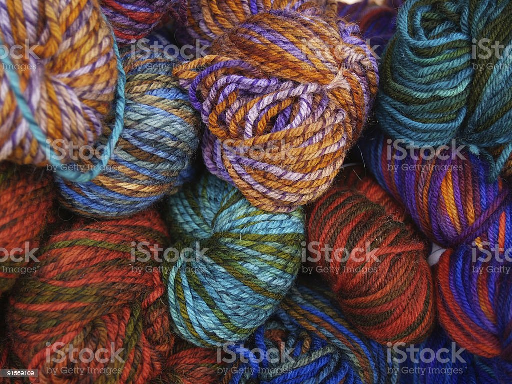 Hand dyed yarn royalty-free stock photo
